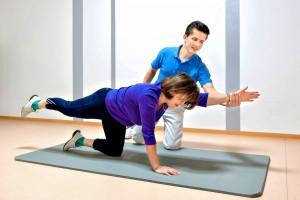 Krankengymnastik in der Physiotherapie Praxis Lebedew